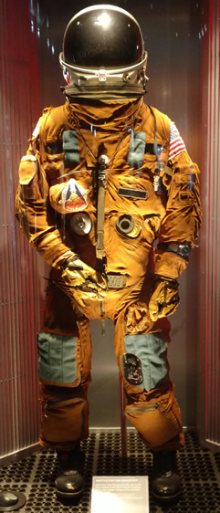 John Young's flight suit at Houston Space Center in Texas.