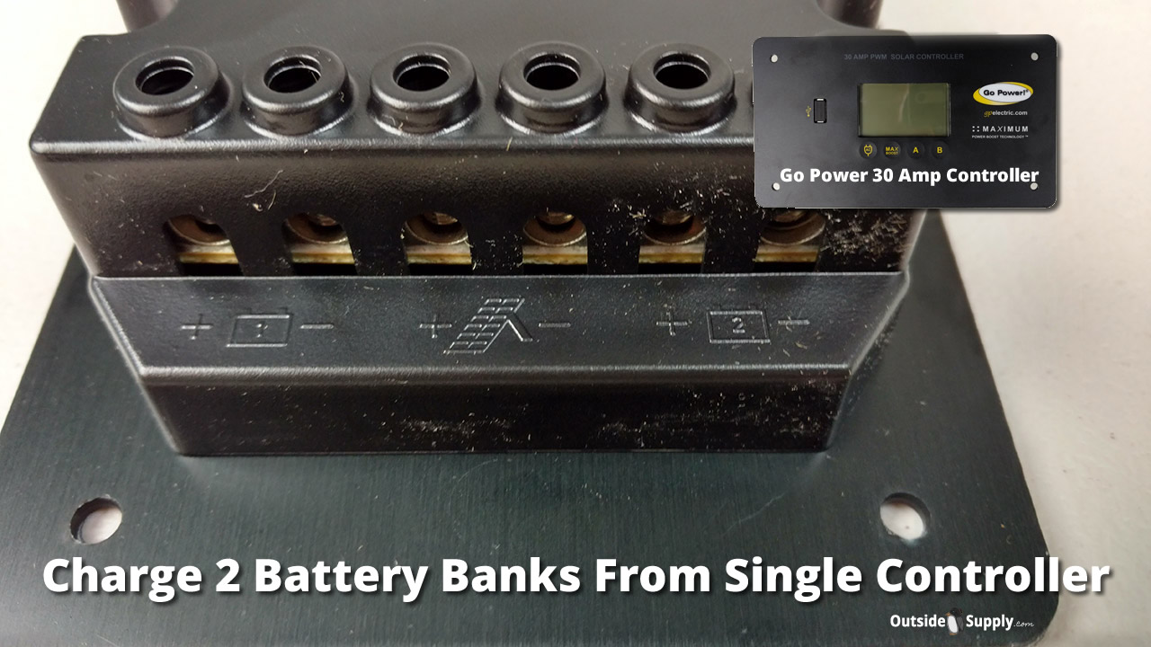 How To Charge Two Batteries In Your Rv With One Solar Panel Solarpanelpoweredbatterychargercircuitdiagram