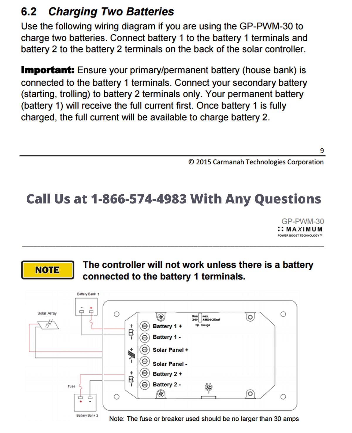 How To Charge Two Batteries In Your Rv With One Solar Panel Diagram As Well Panels Work On Light Socket Wiring Instructions For Controller From Go Power Dual Battery Bank Operation