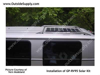 Solar Panel on Chevy RV camping van