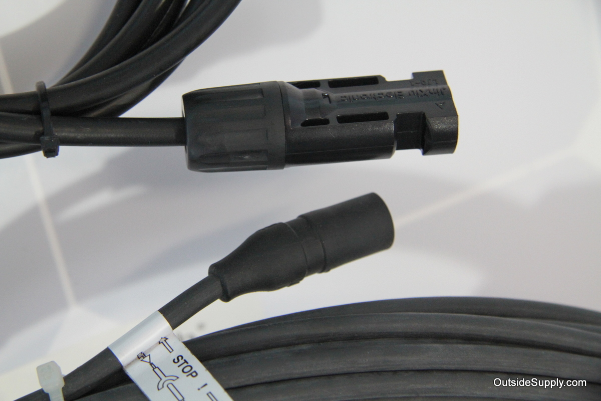MC4 & MC solar connectors shown