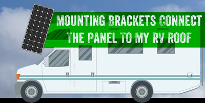 Mounting brackets connect your solar panel to your RV roof.