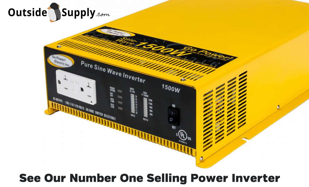 Number one selling power inverter is true sine wave 1500 by Go Power.