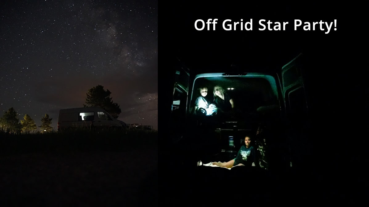 Picture of Sprinter Van Class B off grid for a Star Party.