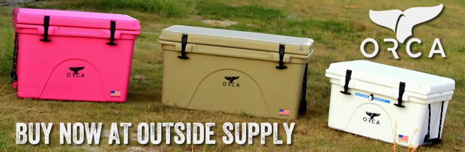 ORCA Coolers for hunting, fishing and camping.