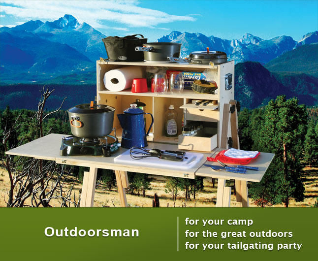 Outdoor Camp Kitchen for gourmet camping and tailgaiting.