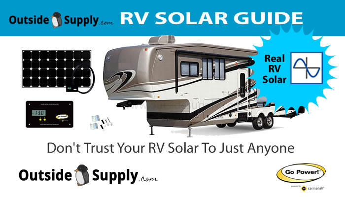 RV solar guide that covers choosing and installing a rv solar kit on a travel trailer, motorhome or RV.