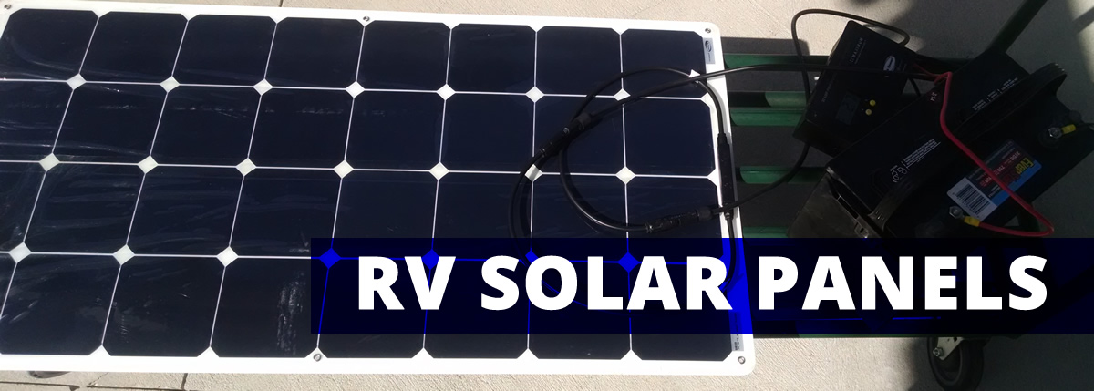 RV solar panels allow for battery charging when camping off grid in your RV.