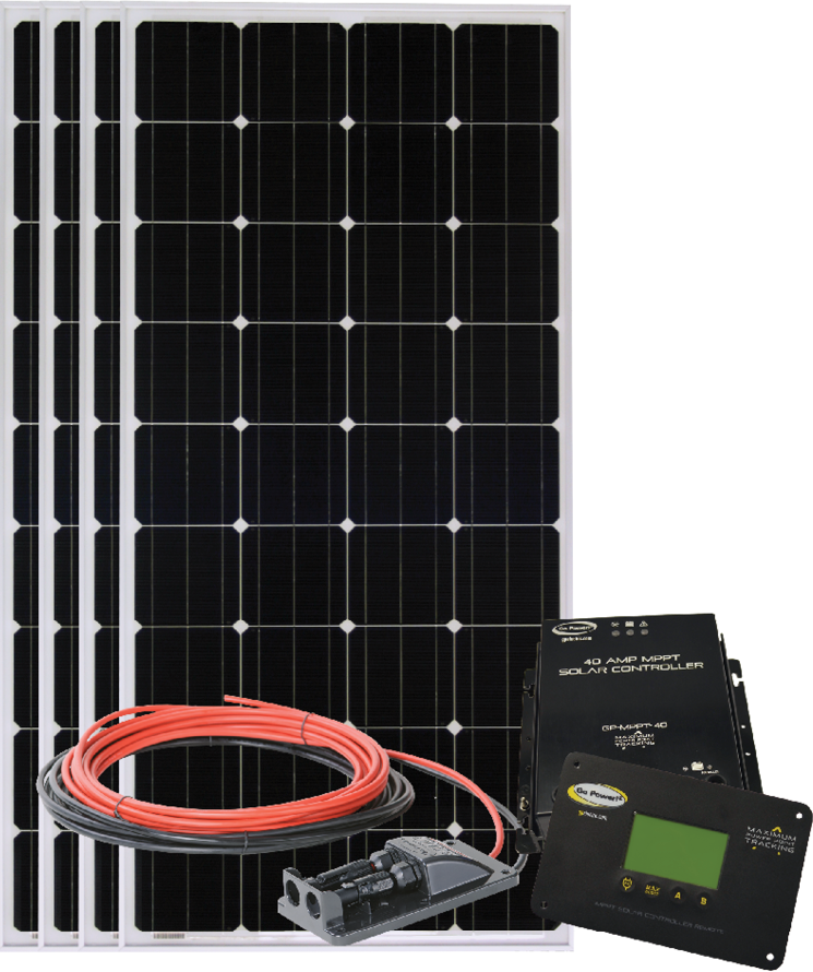 Go Power Solar Electric charging kit 680 watts