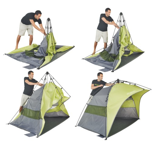 This Pop Up Tent is easy to set up.