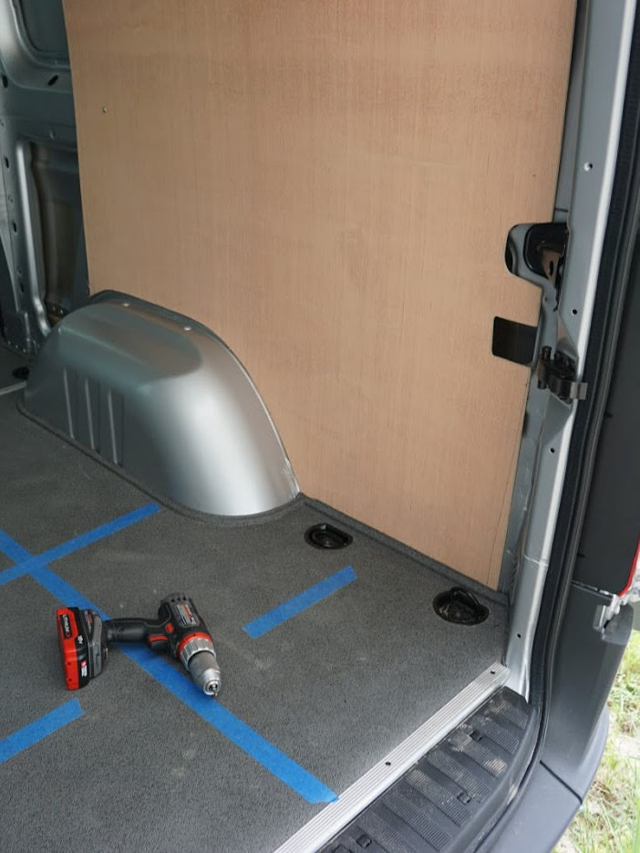 Wall panels are an integral part of turning a van into a camper van conversion.